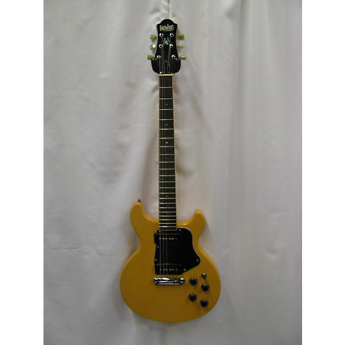 In Store Used Used Eastwood Guitars Double Cut Worn TV Yellow Solid Body Electric Guitar