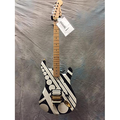 In Store Used Used Ed Roman Guitars Unchained Black And White Solid Body Electric Guitar