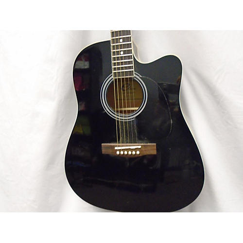 In Store Used Used Eleca DAG5CE Black Acoustic Electric Guitar