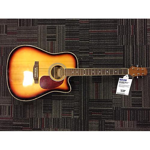 Used Fernando Wsce F411 2 Tone Sunburst Acoustic Electric Guitar