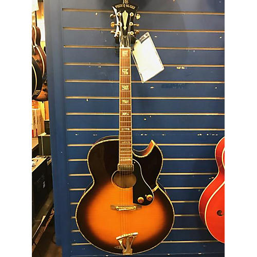 In Store Used Used Fusion Blues Villager FB400 Vintage Sunburst Hollow Body Electric Guitar