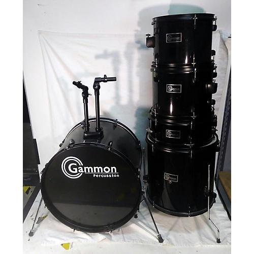 In Store Used Used GAMMON 5 piece DRUMS Black Drum Kit