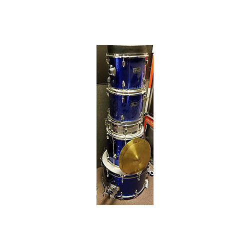 In Store Used Used Gannon 5 piece Drum Set Blue Drum Kit