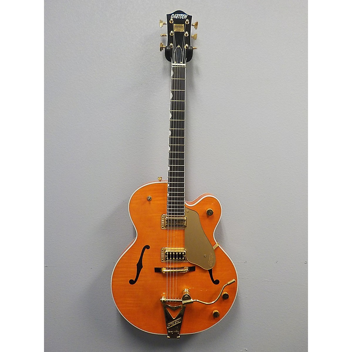 In Store Used Used Gretsch 2000 G6122ncwstn Orange Hollow Body Electric Guitar