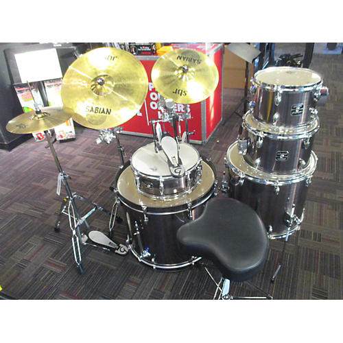 In Store Used Used Gretsch 5 piece Energy Complete Kit W/ Cymbals Brushed Silver Drum Kit