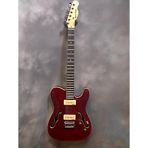 In Store Used Used Harley Benton Deluxe Series Red Flame Hollow Body  Electric Guitar