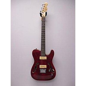 In Store Used Used Harley Benton TE90QM Red Hollow Body Electric Guitar