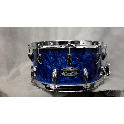 In Store Used Used Heinzman 6.5X14 Snare Drum Sapphire Blue Trans Drum
