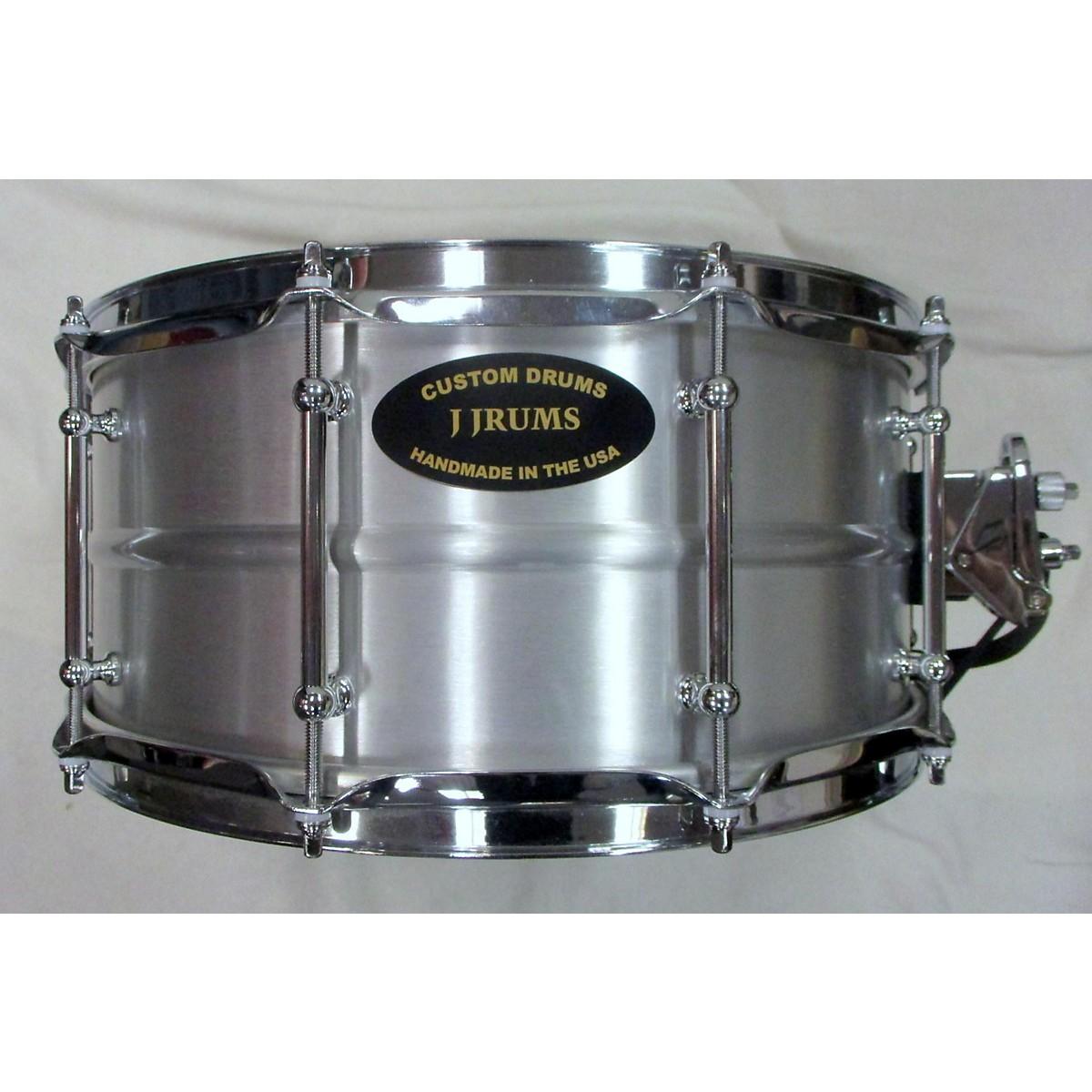 In Store Used Used J Drums Custom Drums 6.5X14 Seamless Aluminum Drum Natural