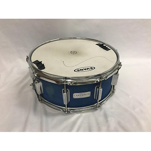 In Store Used Used LABRYNTH 5.5X14 CUSTOM Drum Blue