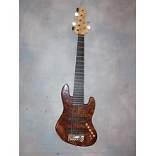 Used LOWEND 7 STRING Brown Electric Bass Guitar
