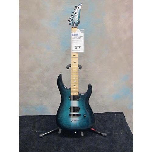 In Store Used Used Legator USA Custom Shop Ninja 400 Trans Blue Burst Solid Body Electric Guitar