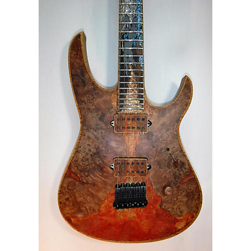 In Store Used Used Lionheart Dragon Balkatora Burl Maple Solid Body Electric Guitar