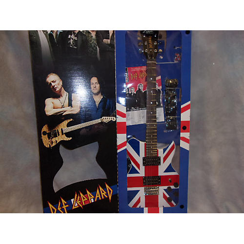 In Store Used Used Lyon By Washburn 2007 Signature Series Def Leppard British Flag Electric Guitar Pack