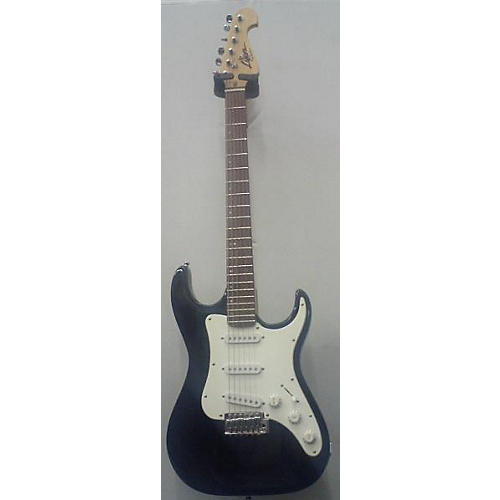 In Store Used Used Lyon By Washburn Strat Black Solid Body Electric Guitar