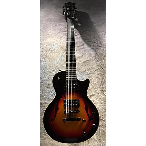 used matt rains guitars 7 string modern archtop 2 tone sunburst hollow body electric guitar. Black Bedroom Furniture Sets. Home Design Ideas