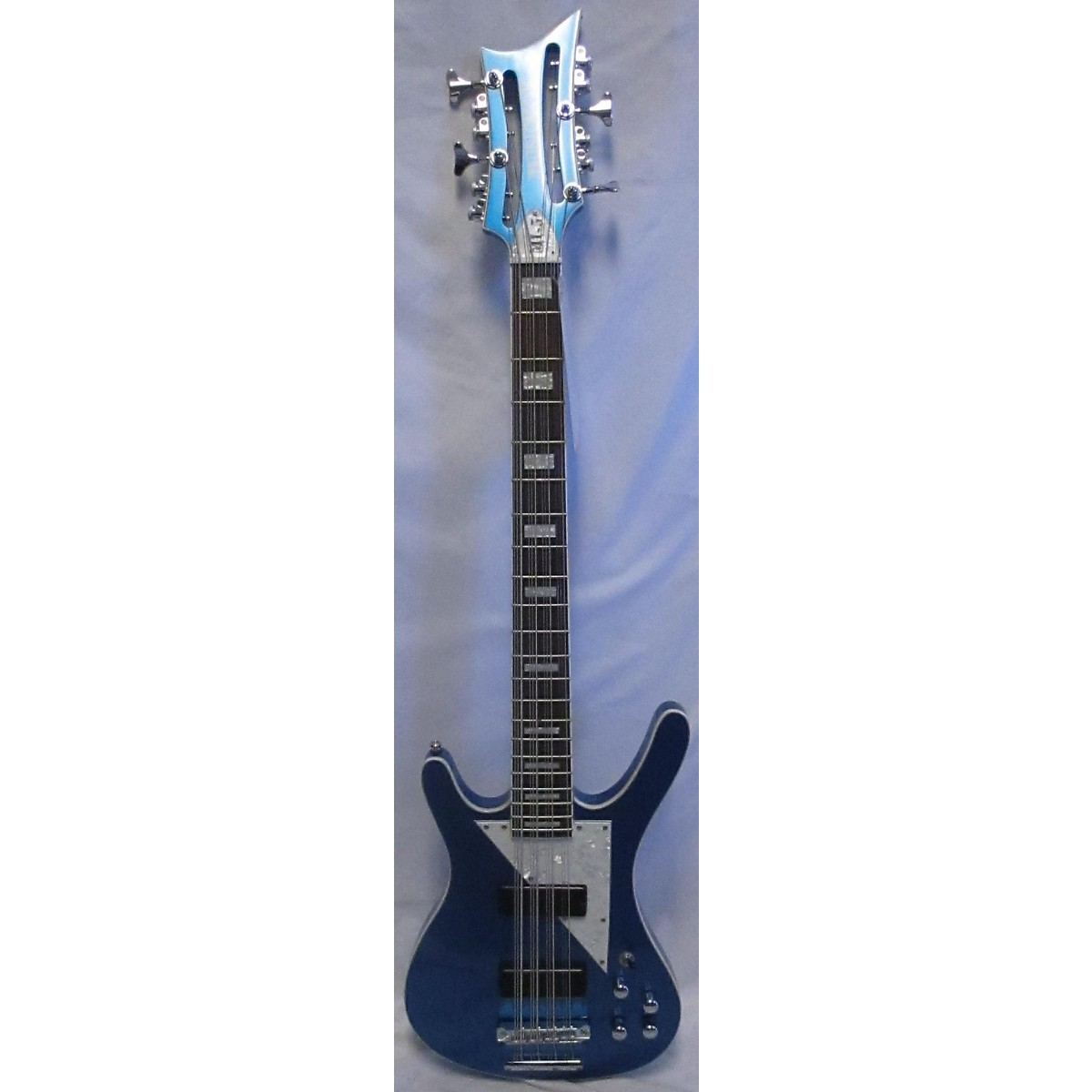 In Store Used Used MUSICVOX MI-5 Blue Electric Bass Guitar