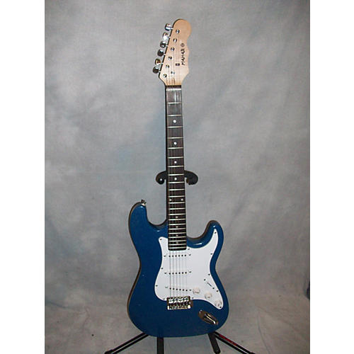 In Store Used Used Mahar Strat Style Blue Sparkle Solid Body Electric Guitar