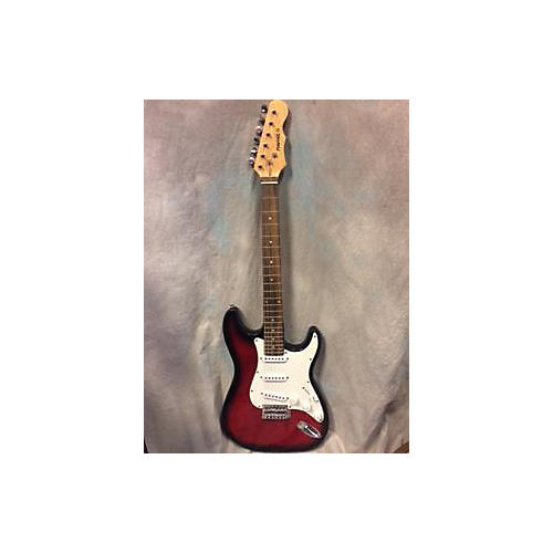 In Store Used Used Mahar Stratocaster Candy Red Burst Solid Body Electric Guitar