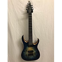 Used Mayones Duvell Elite EP7 Natural Fade Blue Burst Solid Body Electric Guitar