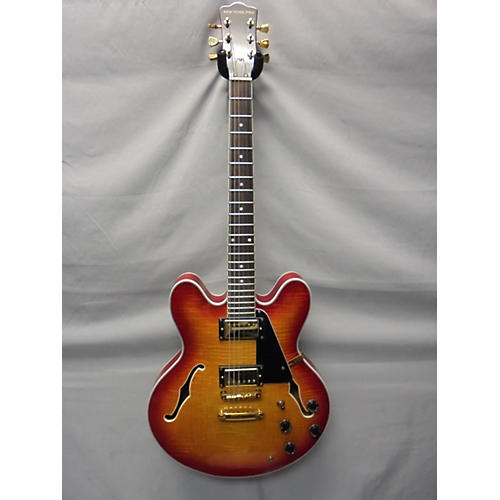 used new york pro double cutaway cherry sunburst hollow body electric guitar guitar center. Black Bedroom Furniture Sets. Home Design Ideas