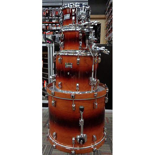 In Store Used Used Odery 4 piece Eyedentity Bubinga/Sapele Explosion Finish Drum Kit