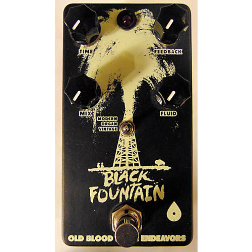 In Store Used Used Old Blood Noise Black Fountain Effect Pedal