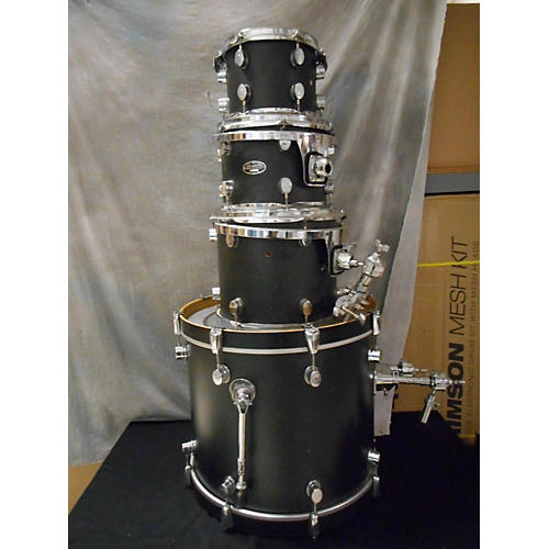In Store Used Used PDP 4 piece FS Series Matte Black Drum Kit