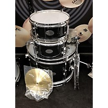 Used PERCUSSION PLUS 3 piece 3 PIECE JR. DRUM SET Black Drum Kit