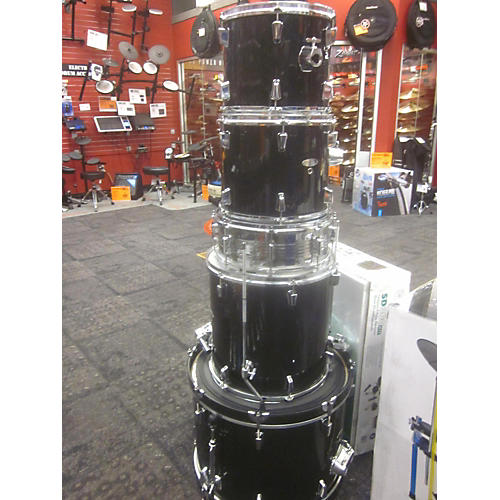 In Store Used Used PERCUSSION PLUS 5 piece STANDARD Black Drum Kit