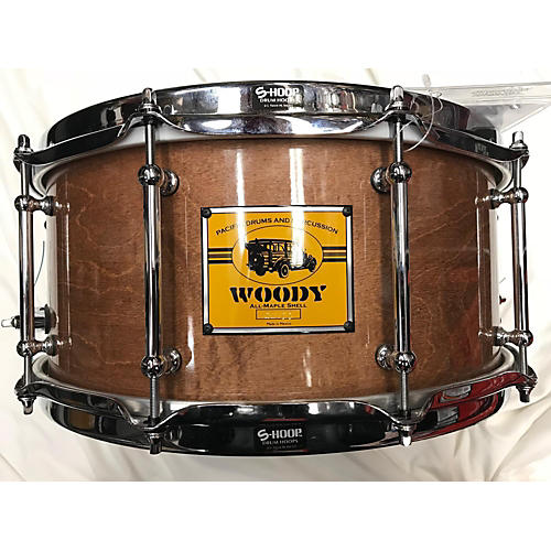 In Store Used Used Pacific Drums And Percussion 6.5X14 Woody Drum Natural