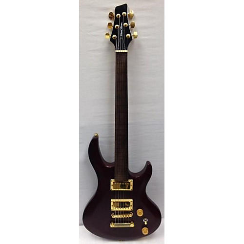 In Store Used Used Pearl River Fretless Electric Guitar Burgundy Crackle Solid Body Electric Guitar