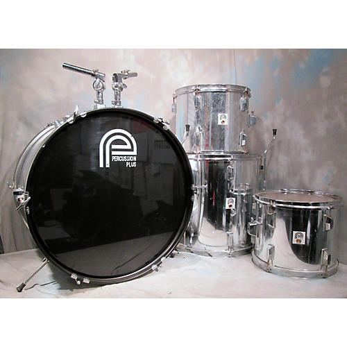 In Store Used Used Percussion Plus 4 piece 4 Piece Metallic Silver Drum Kit