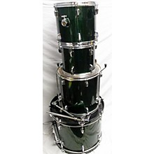 Used Percussion Plus 4 piece Beginner Forest Green Drum Kit
