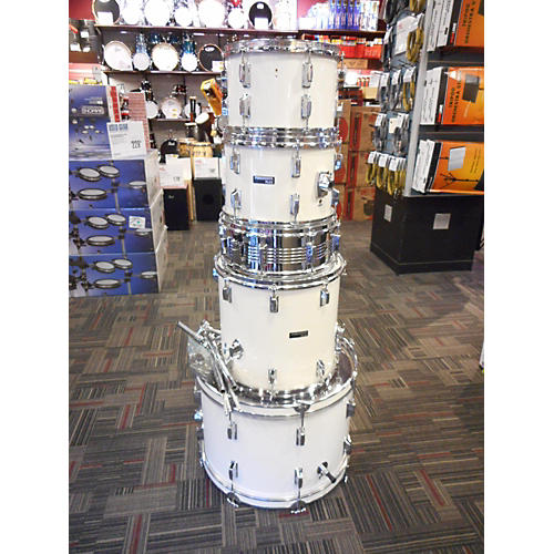 In Store Used Used Percussion Plus 5 piece PP4200 White Drum Kit