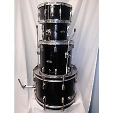 Used ROYCE 4 piece 4PC DRUM SET Black Drum Kit