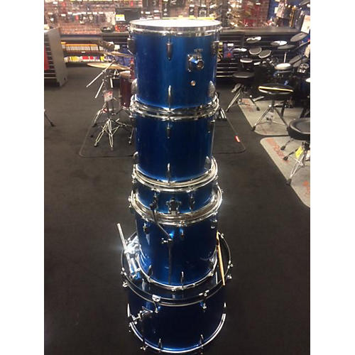In Store Used Used RYHTHM ART 5 piece DRUM KIT Blue Drum Kit