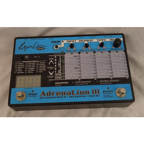 In Store Used Used Robert Lynn Adrenalinn III Effect Processor