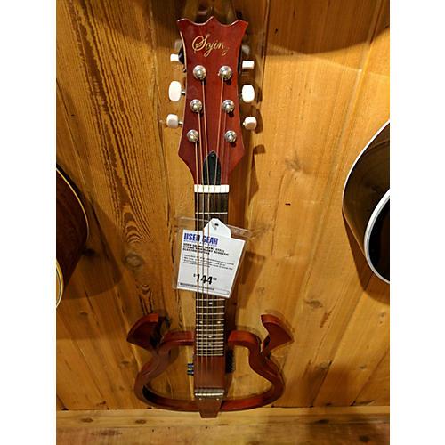 used sojing silent steel string mahogany acoustic electric guitar guitar center. Black Bedroom Furniture Sets. Home Design Ideas