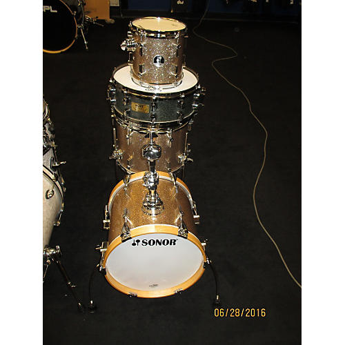 In Store Used Used SONAR 4 piece MARTINI GOLD SPARKLE Drum Kit