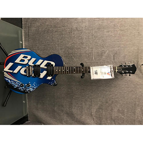 In Store Used Used Singlecut Bud Light Blue Solid Body Electric Guitar