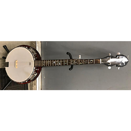 In Store Used Used Sojin Flower Inlay Banjo Red Wood Banjo