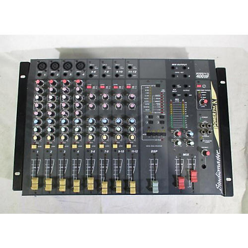 Used Studiomaster Power Pack 400dsp Powered Mixer Guitar
