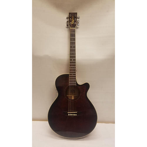 In Store Used Used Tanglewood TW45S Dark Cherry Burst Acoustic Electric Guitar