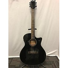 Used Tombstone A-300e Black Acoustic Electric Guitar
