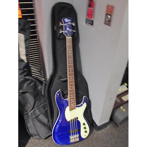 In Store Used Used Ventures VMB-75 Wilson Brothers Blue Electric Bass Guitar