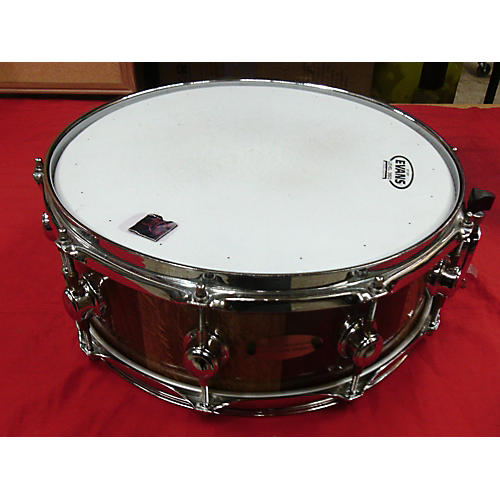 In Store Used Used Whittman Percussion 5X14 Stave Lt/ Dk Brown Drum