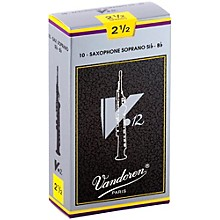 Vandoren V12 Series Soprano Saxophone Reeds Strength 2.5,Box of 10