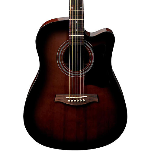 ibanez v70ce acoustic electric cutaway guitar violin sunburst guitar center. Black Bedroom Furniture Sets. Home Design Ideas