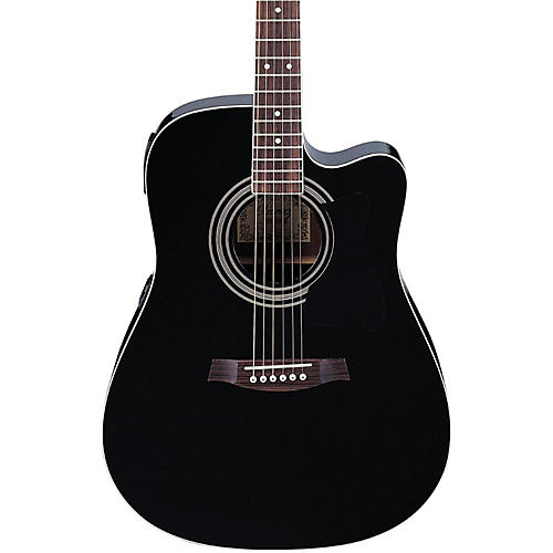 Ibanez V70ce Acoustic Electric Guitar Black Guitar Center